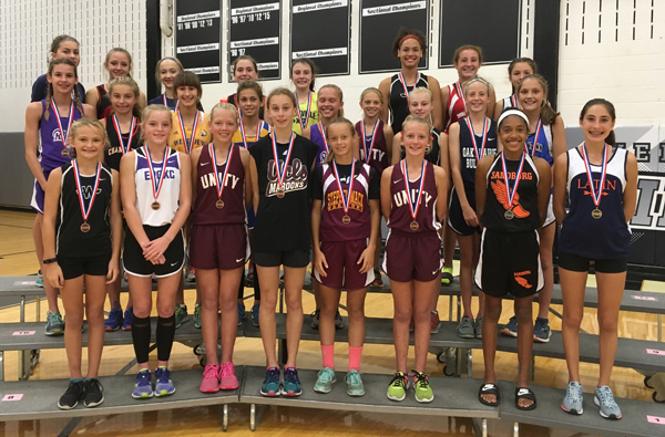 2017 IESA 2A  Girls Cross-Country Champions
